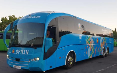 Grupo Corporalia elegida para la rotulación integral de los autobuses de la Eurocopa