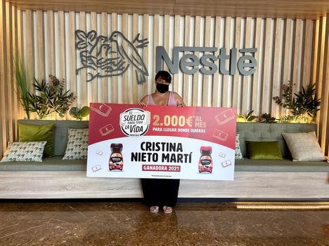 Cristina Nieto, ganadora del Sueldo para toda la vida de Nescafé: