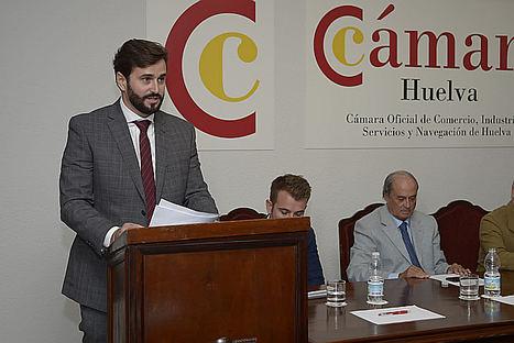 Daniel Toscano, presidente de la Cámara de Comercio de Huelva.