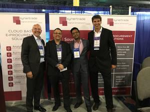 Equipo de SynerTrade North America durante el ISM2017 en Orlando (de izquierda a derecha): Rainer Machek, Vice Presidente Ejecutivo de SynerTrade. David Natoff, Asesor de SynerTrade. Vishal Chouhan, VP North America SynerTrade.