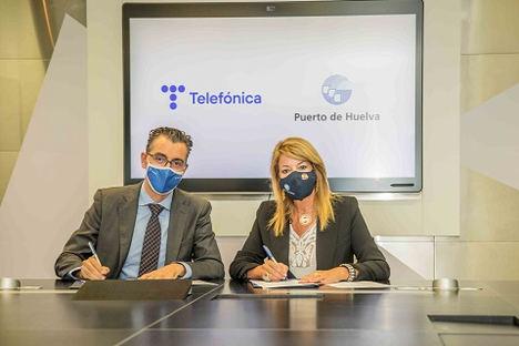 Telefónica desplegará en el Puerto de Huelva el primer nodo de innovación Fiware portuario mundial