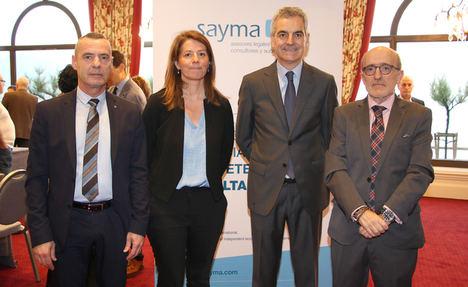 De izda. a dcha: los profesionales de SAYMA ponentes en la Jornada sobre continuidad de empresas en San Sebastián.