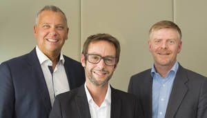 De izda a dcha: Erhard Paulat, Pascal Brasseur y Alexandre Sorel, Grupo PSA.