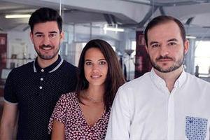 De izq. a dcha., Franc Armesto, Ariana San Román y Sebastián Platero.
