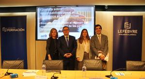 De izq. a dcha.: Berta Aquinaga, Juan Antonio Frago, Mª Ángeles Villegas y Antonio del Moral.