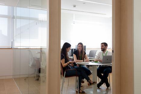 De izq. a dcha.: Dra. Marta Vila, Dra. Paula Ortiz y el Dr. Marc Suárez.