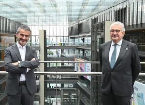 De izq. a dcha.: Enrique Sánchez, Pte. F. Adecco, y José Bogas, CEO Endesa.