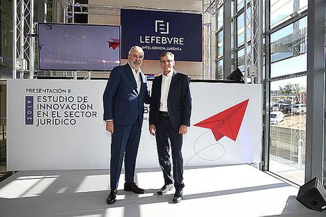 De izq a dcha: Juan Pujol y José Ángel Sandín.