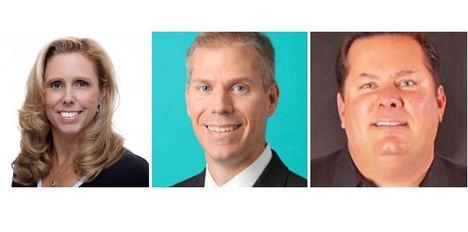 De izqda. a dcha.: Jacqueline Marks, Steve Dumaine y Ray Snisky. Apple Leisure Group.