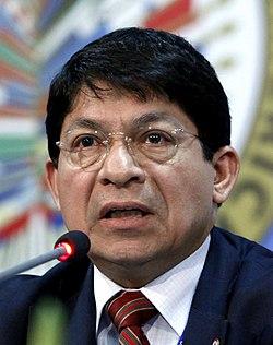 Denis Ronaldo Moncada Colindres, Canciller de las Relaciones Exteriores y Culto de la República de Nicaragua y Representante Permanente ante la OEA.