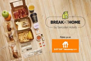 El desayuno de hotel por primera vez en casa de la mano de Sercotel Hotel Group y Just Eat