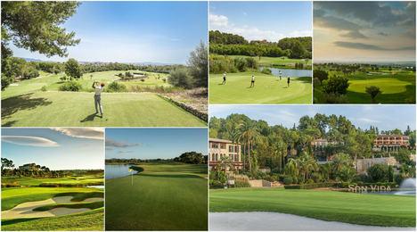 Diferentes campos de golf situados en Palma.