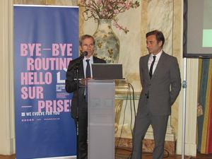 Discurso del Sr. Embajador de Francia en presencia de Philippe Brocart.