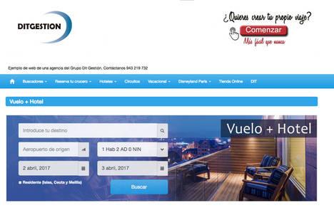 Dit Gestión lanza su motor dinámico para viajes con vuelo y hotel