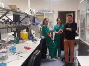 El Dr. Jesús Espada, junto al equipo de investigación de Derma Innovate.