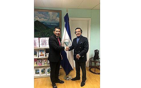 Reconocido empresario teatral y promotor español visita la Embajada de Nicaragua en España