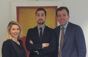 Doris Pajon, Etienne Cheret y Laurent Lippens, Allianz Global Corporate & Specialty.