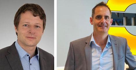 De izqda. a dcha.: Dr. Christopher Matheisen y Stephan Kohlhof.