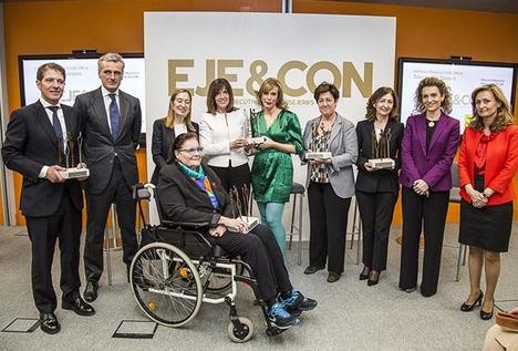 EJE&CON otorga los Premios al Talento Sin Género a AXA, Hispasat, Ecoembes, al TD II Edición de TVE y una mención especial a Ana Mª LLopis