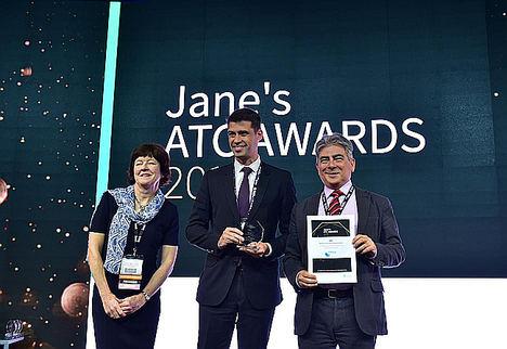ENAIRE recoge el premio 'Jane´s ATC Awards' a la categoría de Medioambiente junto a su filial de I+D+i, CRIDA, por Perseo-Emissions.