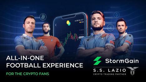 StormGain firma una asociación de larga duración con la SS Lazio, club de la Serie A