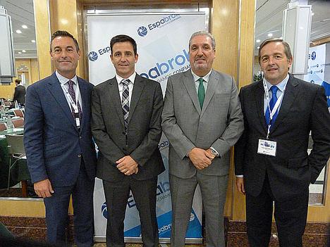 Luis López Visús, Jorge Azcarraga, Silvino Abella y Vicente Santesteban.