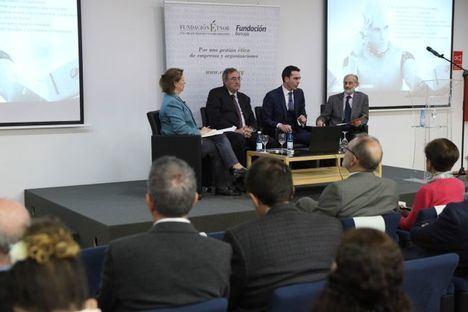 De izqda. a dcha.: Agnès Noguera, Vicente Vilata, Francisco Segura y Jesús Conill.