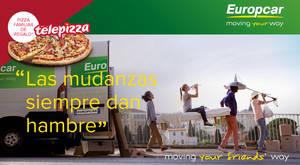 """Llegan las """"Mudanzas que dan hambre"""" de la mano de Europcar España y Telepizza"""