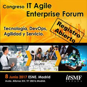 EasyVista patrocina el Congreso IT Enterprise Agile Forum 2017 organizado por itSMF España