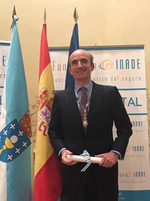 Eduardo Dávila recibe el Premio Galicia Segura 2017