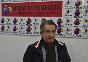 Eduardo Sosa, presidente de Adicae Extremadura.