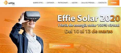 Ha comenzado Effie Solar 2020, una feria sin riesgo de contagios ni emisiones