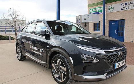 El Hyundai Nexo ha sido recargado de hidrógeno en Albacete