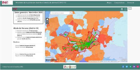 El INE lanza una serie de mapas sobre los patrones de movimiento de la población durante el confinamiento con tecnología de Esri