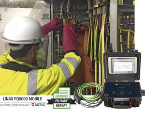 El PQ5000 MOBILE comprueba la calidad y disponibilidad del suministro eléctrico mediante métodos de evaluación estadística y registros de incidentes.
