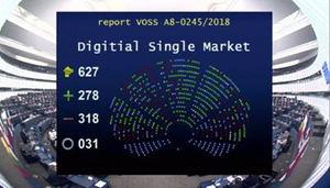 El Parlamento Europeo rechaza la nueva reforma europea sobre derechos de autor, que ha denunciado la AEEPP