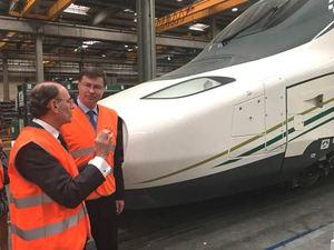 Plan de Inversiones para Europa: El Vicepresidente de la Comisión Europea visita el proyecto de innovación de Talgo financiado por el BEI