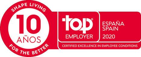 Electrolux España, décimo año como Top Employer