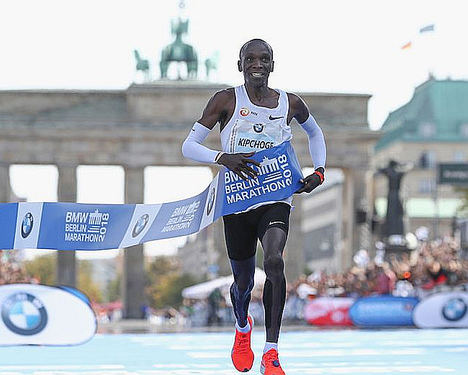Eliud Kipchoge, maratón de Berlin.