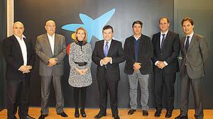 El jurado del 'Premio CaixaBank de Innovación y Modernización de Empresas Turísticas en Canarias'.