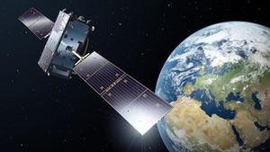 El satélite Galileo en órbita.