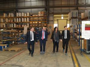 El vicepresidente Ayerdi visita Liebherr Industrias Metálicas