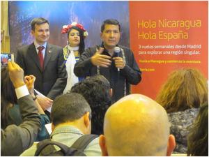 Embajador de Nicaragua en España, Carlos Midence y el Director Comercial de Iberia, Marco Sansavini.