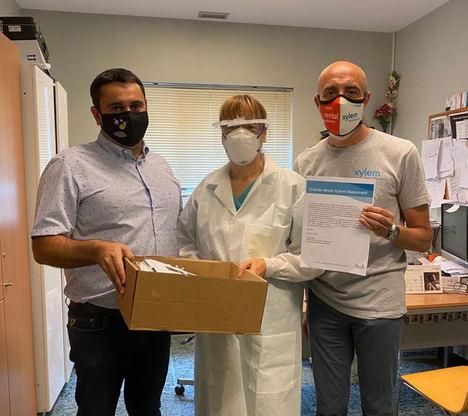 Xylem distribuye más de 100.000 protectores faciales a empleados de todo el mundo