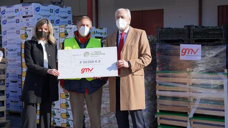 GMV y sus empleados donan 50.000 euros al Banco de Alimentos
