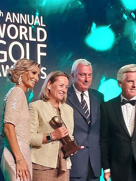 Entrega premio Golf La Galiana, Abu Dhabi 2019.
