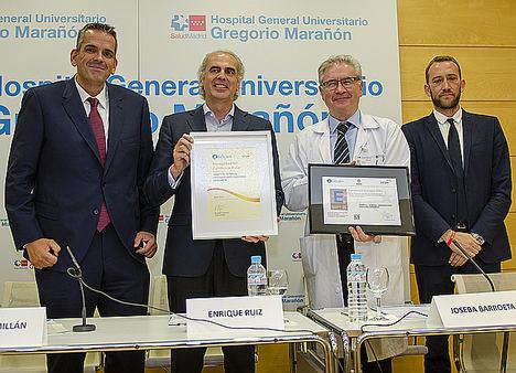 El Hospital Gregorio Marañón recibe el Sello de Excelencia Europea EFQM 400+