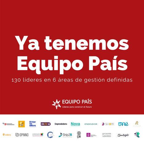 Equipo País selecciona a los 130 mejores líderes y gestores españoles para apoyar al sector público en la salida de la crisis