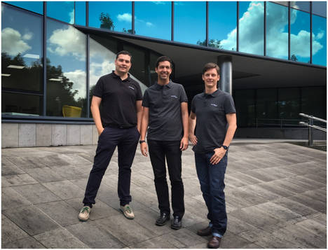 Equipo fundador de CounterCraft, David Barroso (CEO), Fernando Braquehais (Software Architect) y Dan Brett (CMO)