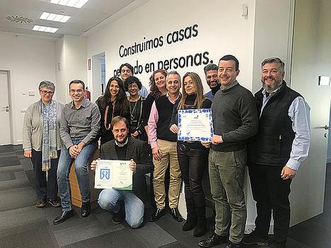 Equipo territorial de NEINOR HOMES con el certificado DE SMDos.